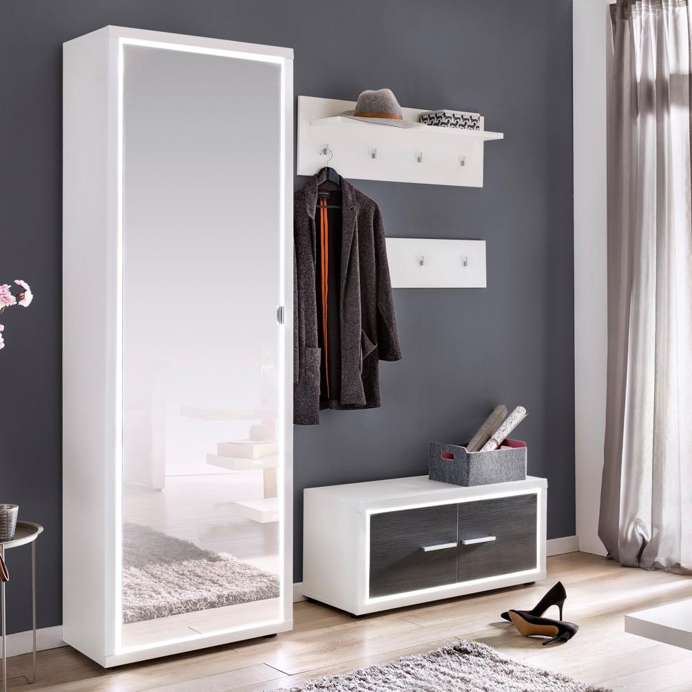 home24 Garderobenschrank Piorini II   Flur & Diele > Garderoben > Garderobenschränke   Weiss   Holzwerkstoff   mooved