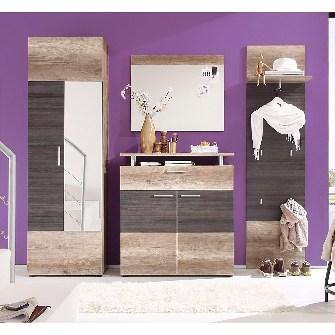 home24 Garderobenset Rockland (4-teilig) | Flur & Diele > Garderoben > Garderoben-Sets | Braun | Holz | Trendteam