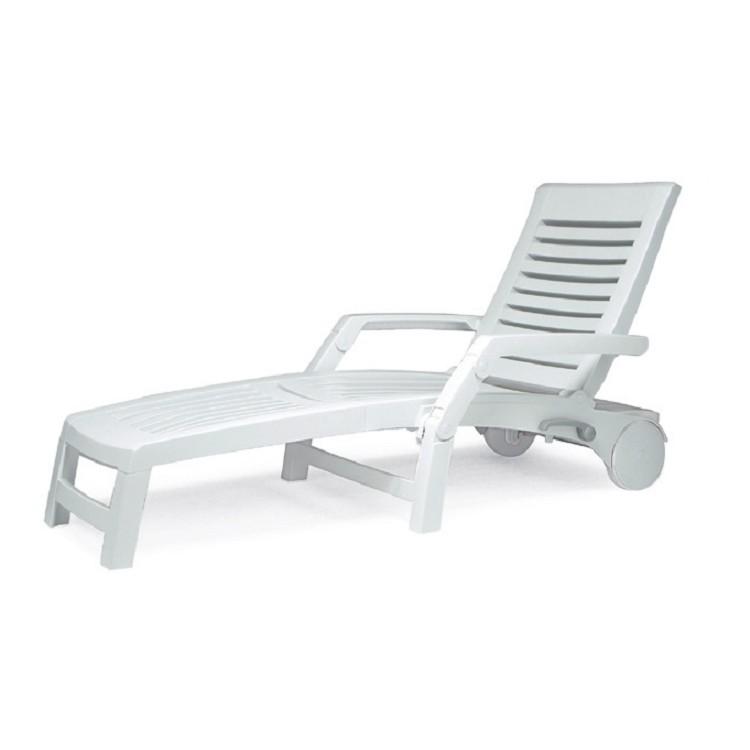 Gartenliege Florida - Kunststoff - Weiß, Best Freizeitmöbel