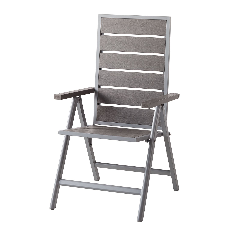 Chaise de jardin Kudo III - Polywood / Aluminium - Gris / Gris platine, Fredriks