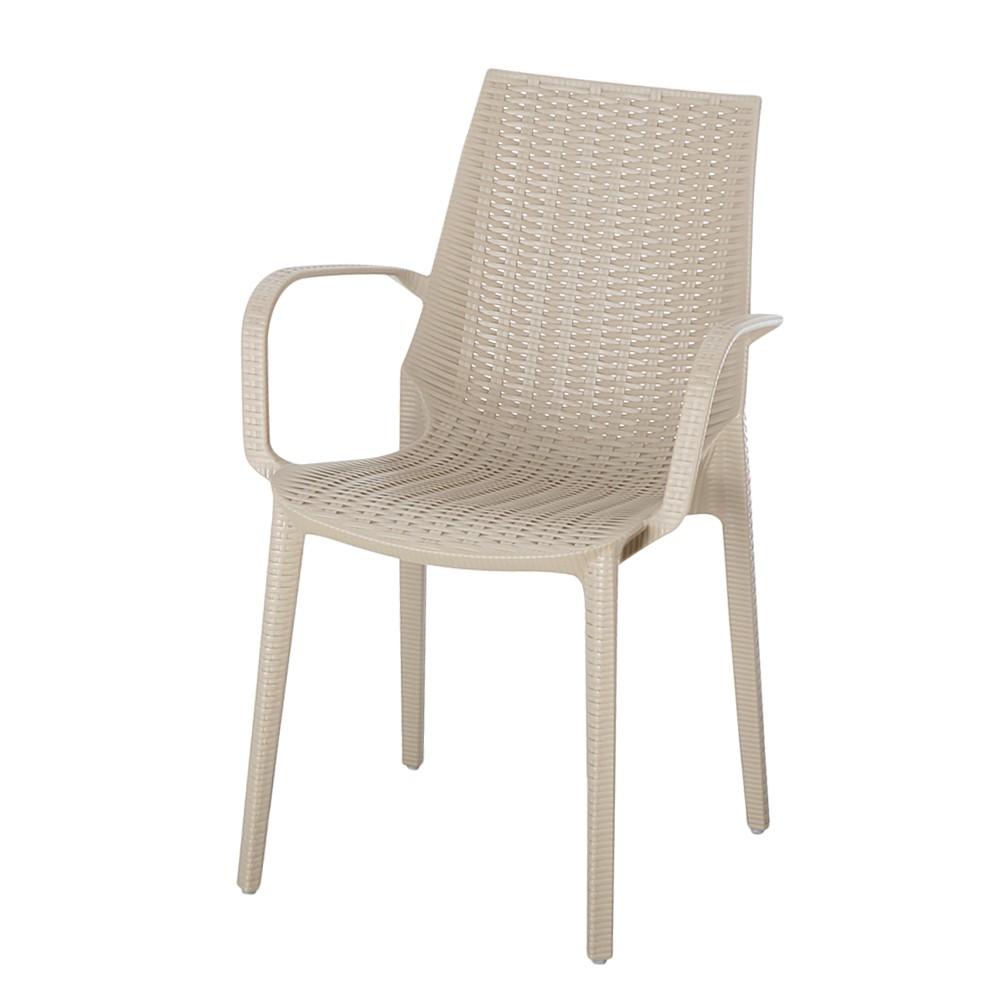 Gartenstuhl Linette - Kunststoff - Taupe, Best Freizeitmöbel bei Home24 - Sonderangebote