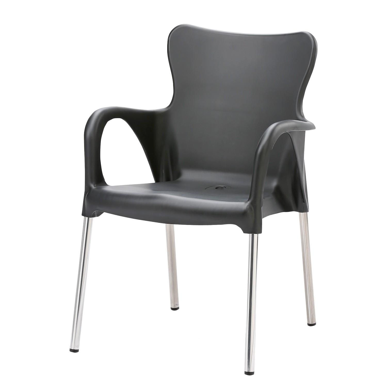 Gartenstuhl Maui Uni - Kunststoff / Aluminium - Anthrazit, Best Freizeitmöbel