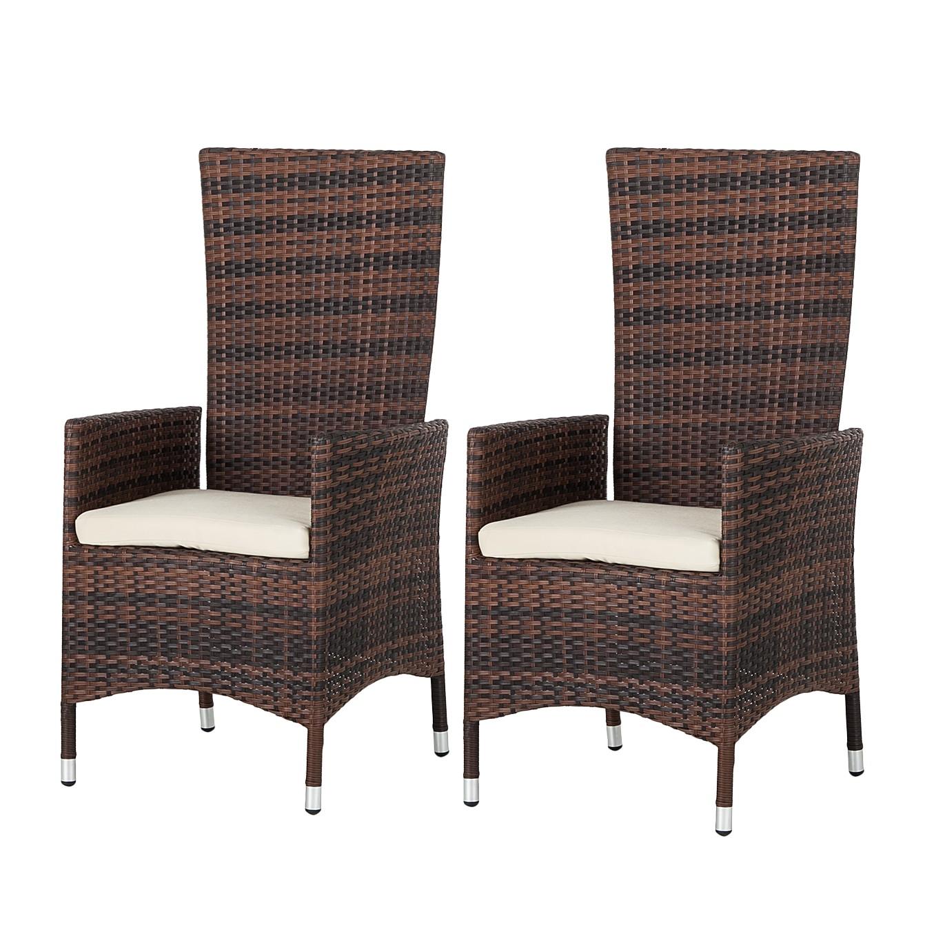 Chaise de jardin Paradise Lounge - Dossier haut - Polyrotin, Fredriks