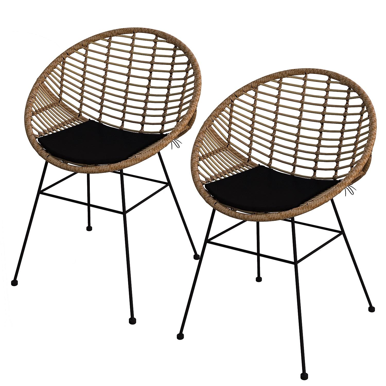 Chaise de jardin Taar (lot de 2)