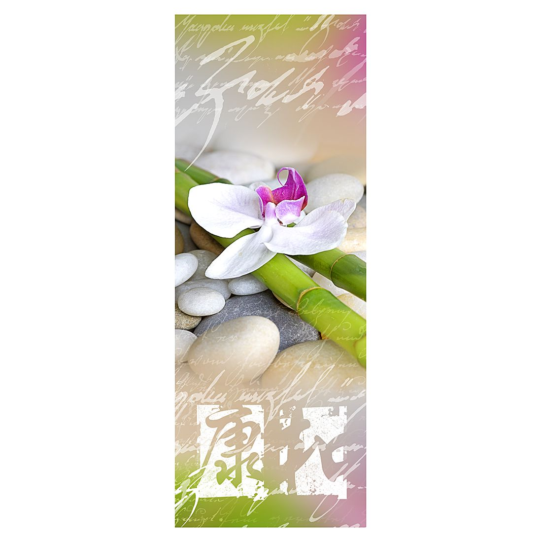 Print achter glas Orchidee X 30x80cm, Pro Art