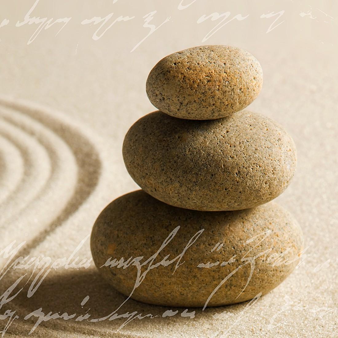 Afbeelding achter glas Sand stone II print achter glas, Pro Art