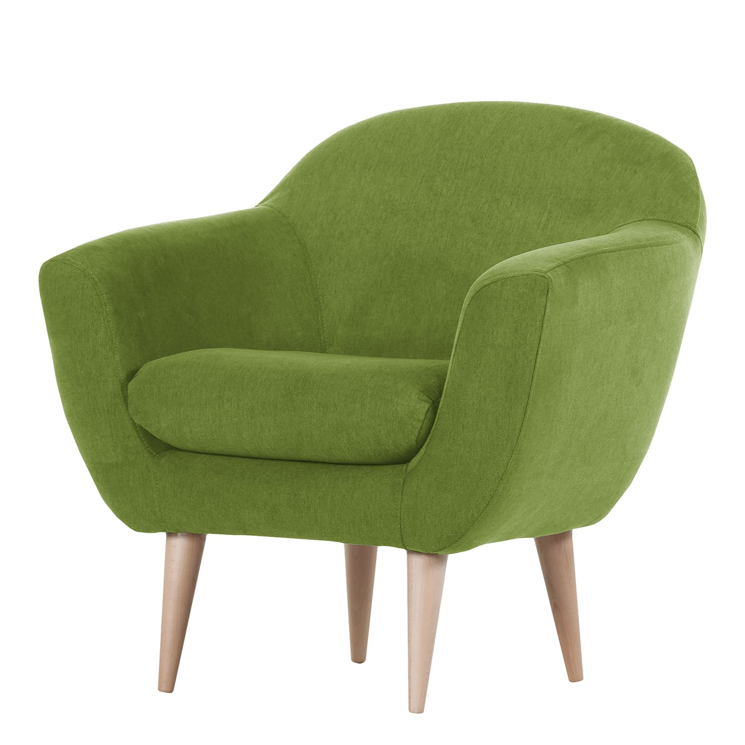Fauteuil Channay Tissu - Avocat cannelure fine, Morteens