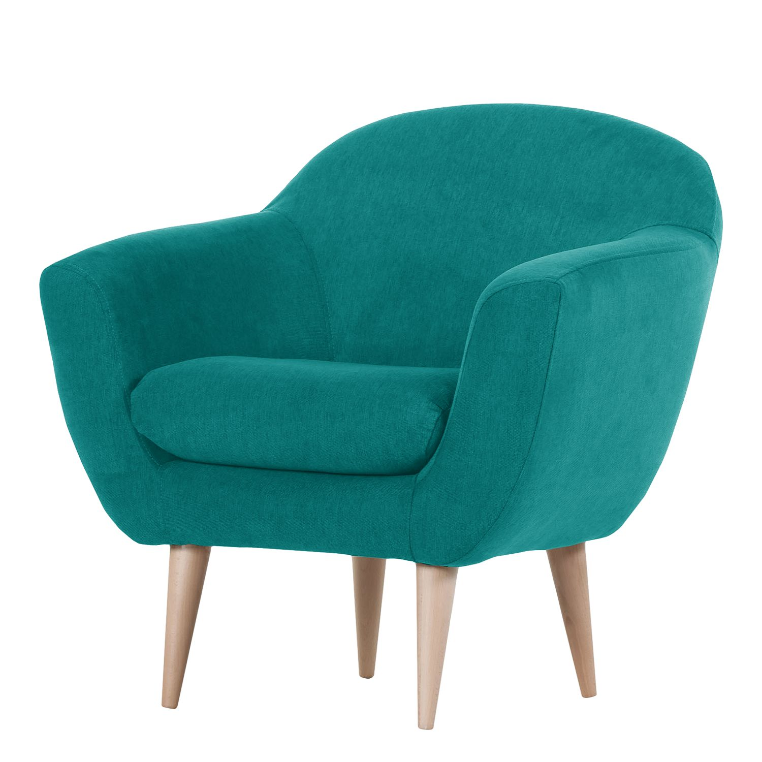 Fauteuil Channay Tissu - Turquoise, Morteens