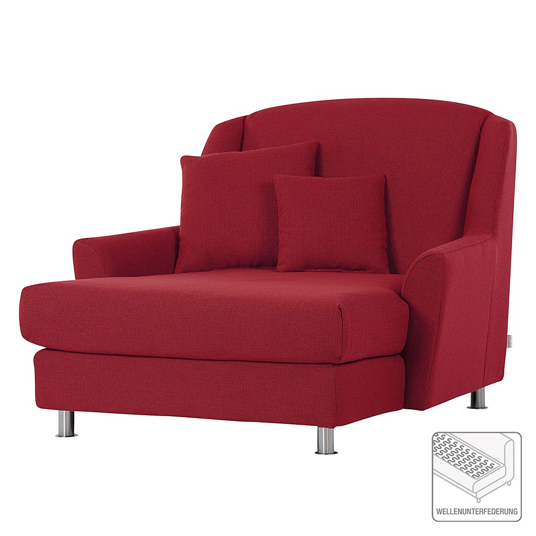 home24 roomscape XXL-Sessel Gran Rot Webstoff 136x103x136 cm (BxHxT)