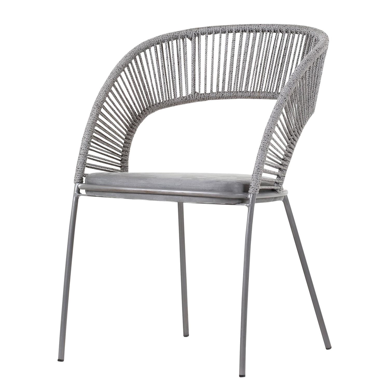 home24 Armlehnenstuhl Aurigo   Küche und Esszimmer > Stühle und Hocker   Grau   ars manufacti