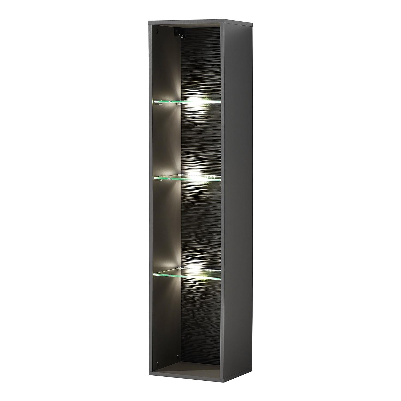home24 Haengeregal Cupar (inkl. Beleuchtung)   Wohnzimmer > Regale   Grau   Holzwerkstoff   loftscape