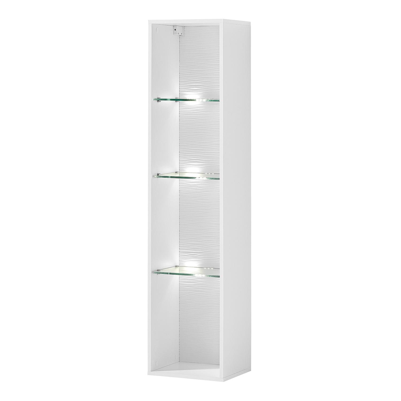Haengeregal Cupar (inkl. Beleuchtung) | Wohnzimmer > Regale > Hängeregale | Weiss | Holzwerkstoff | loftscape