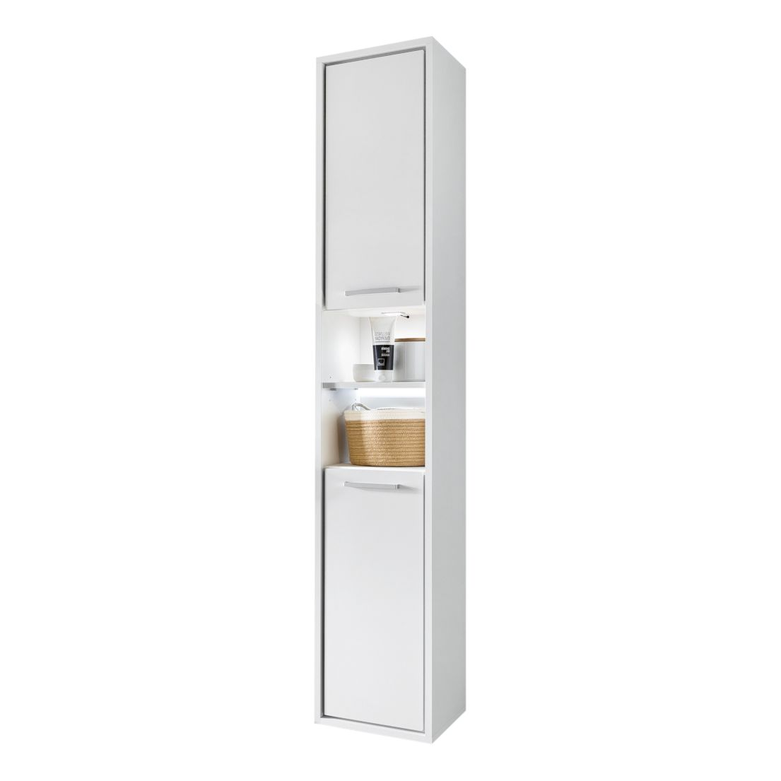 Armoire colonne Depok - Blanc, mooved