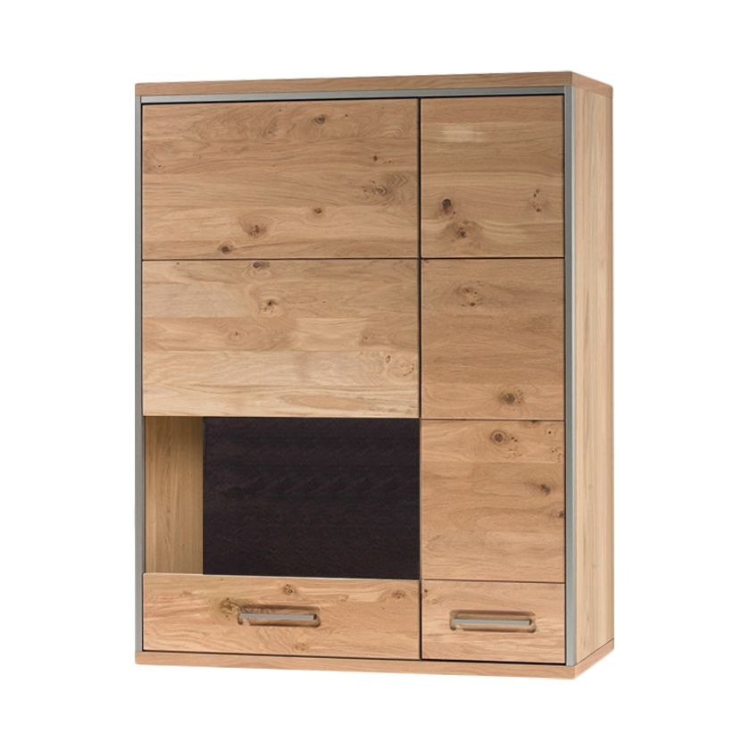 home24 Haengevitrine Lopburi | Wohnzimmer > Vitrinen | Beige | Holz - Teilmassiv | Ars Natura