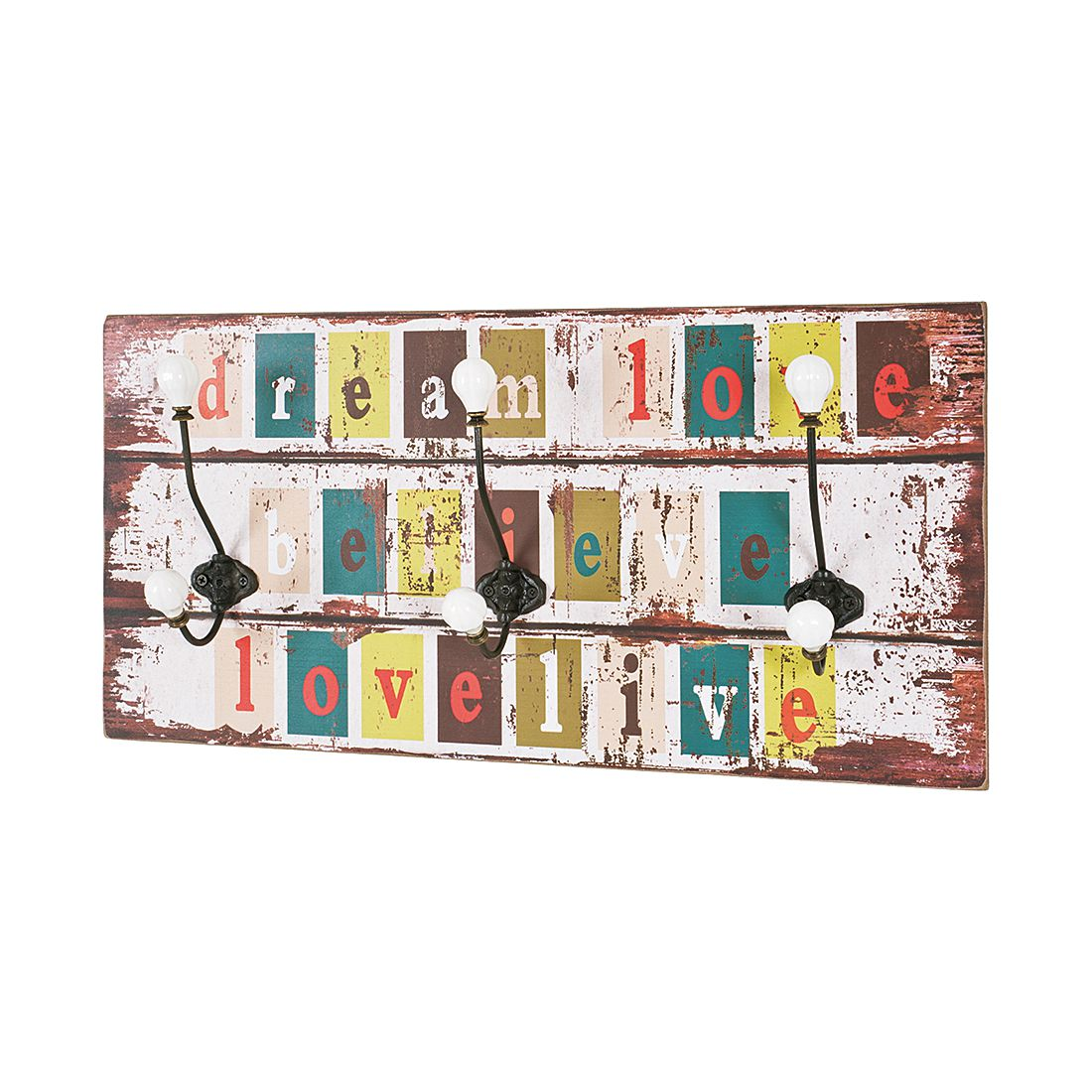 Appendiabiti da parete Leiria Vintage, home24
