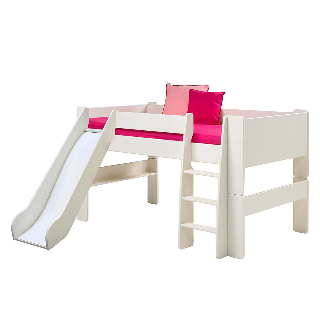 Lit mezzanine Steens for Kids (avec toboggan) - Blanc, Steens