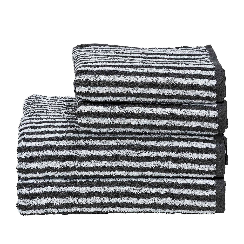 home24 Handtuchset Day Stripes I (4-teilig)