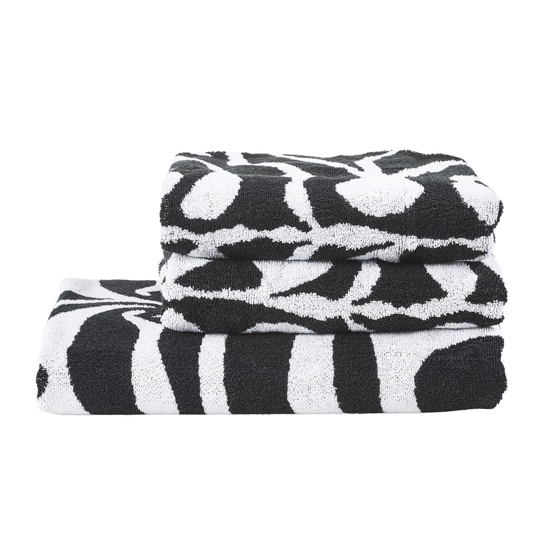 Set handdoeken Yazir (3 delig) katoen zwart wit, twentyfour