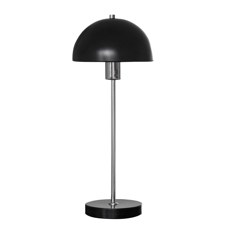 EEK A++, Lampe de table Vienda - Métal - 1 ampoule - Noir / Chrome, Herstal