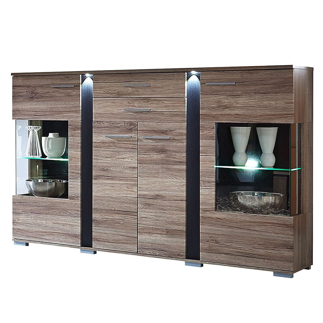 home24 Highboard Campo (inkl. Beleuchtung)