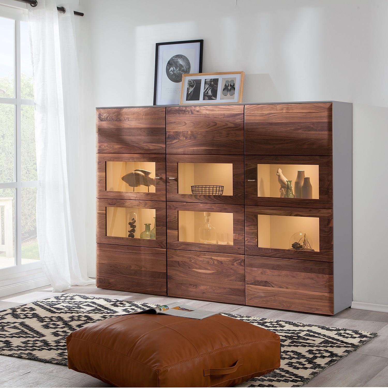 home24 Highboard Solano II | Wohnzimmer > Schränke > Highboards | Braun | Holz - Teilmassiv | Netfurn by GWINNER