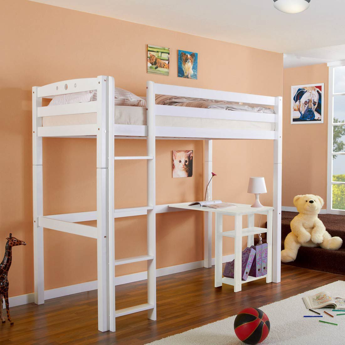 hochbett massivholz latest etagenbett mit stauraum treppen schnsten with hochbett massivholz. Black Bedroom Furniture Sets. Home Design Ideas