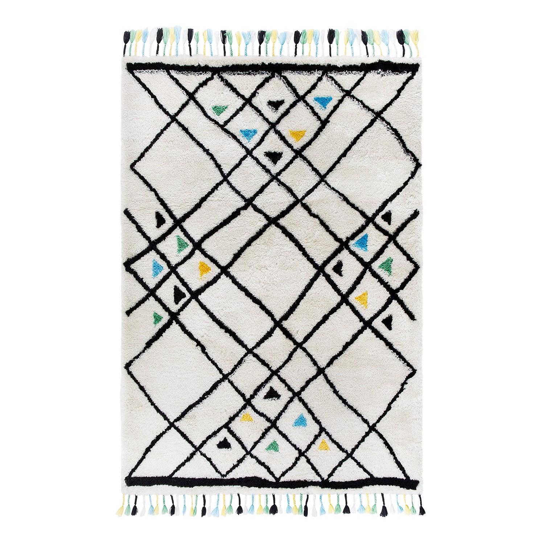 home24 Hochflorteppich Colorati | Heimtextilien > Teppiche > Hochflorteppiche | Schwarz | Textil | Luxor living