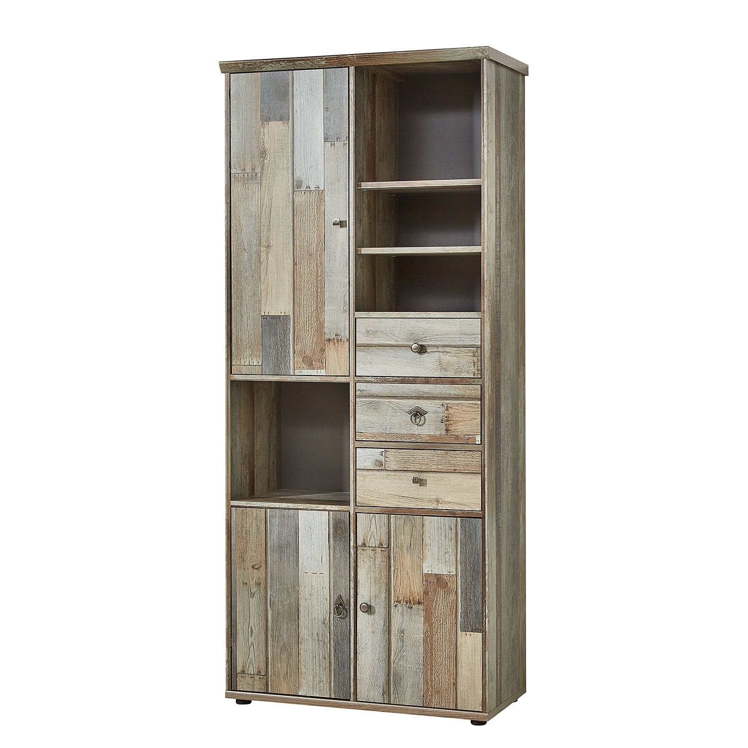 Armoire Tapara - Marron / Gris, roomscape