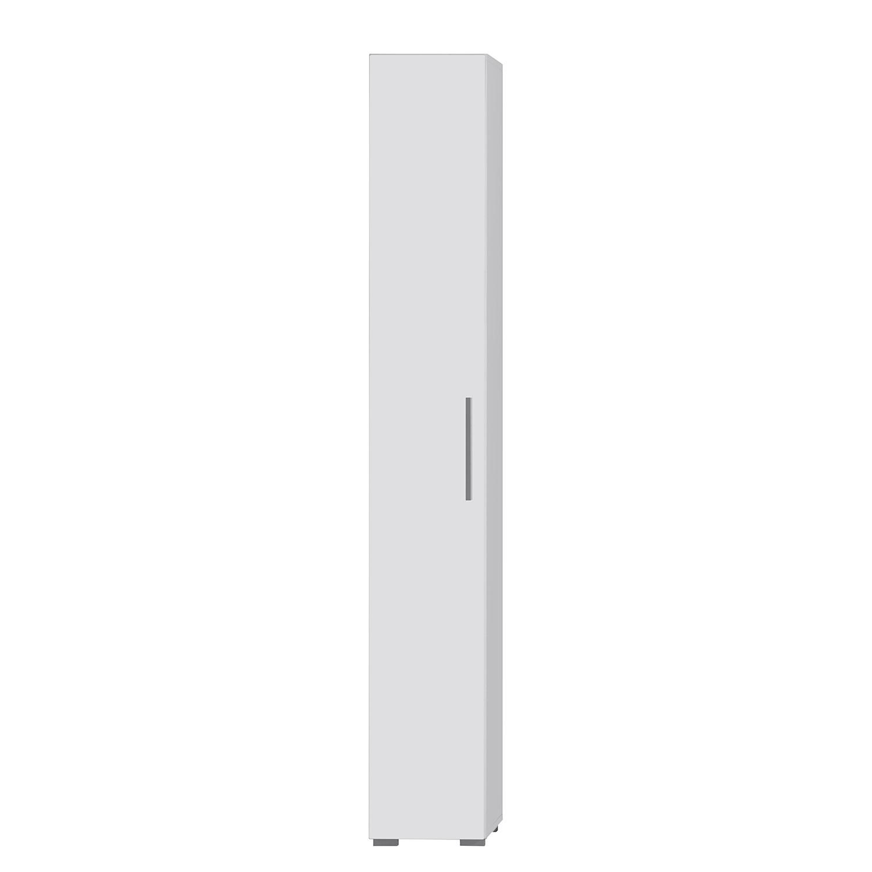 Armoire colonne Enjoy (lot de 2) - Blanc brillant / Blanc, Trendteam
