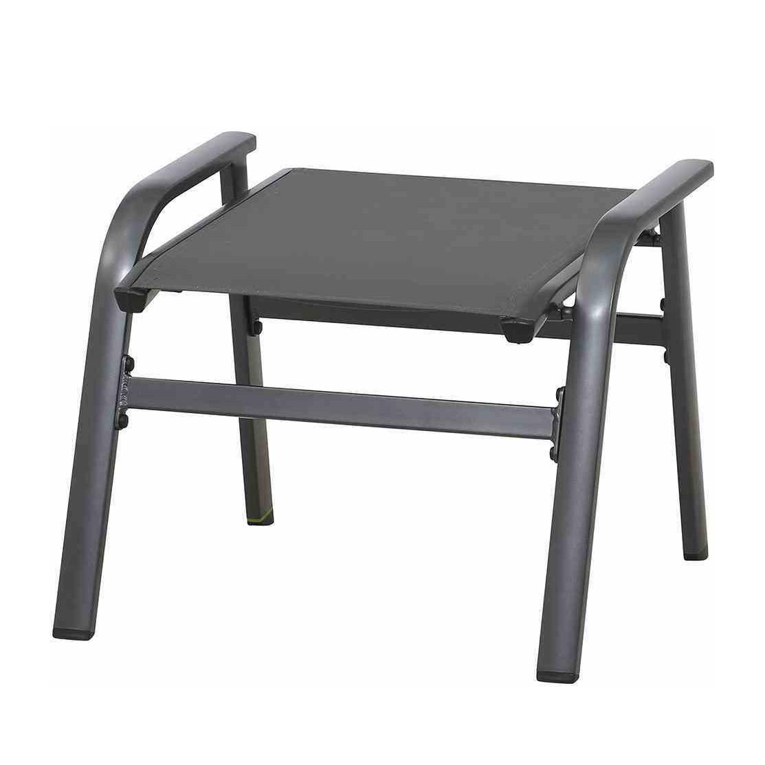 Hocker Core - Kunstfaser / Aluminium - Dunkelgrau, Mwh