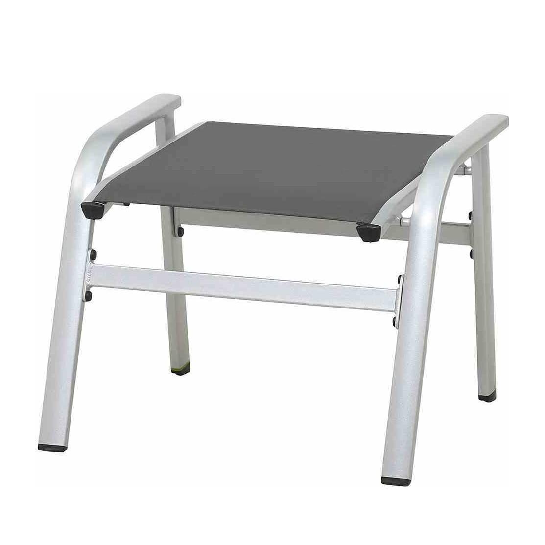 Hocker Core - Kunstfaser / Aluminium - Dunkelgrau / Silber, Mwh