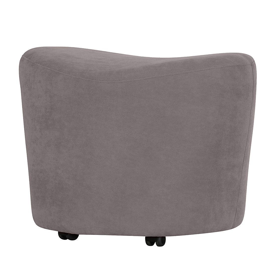 Hocker Kenai Webstoff - Grau, roomscape