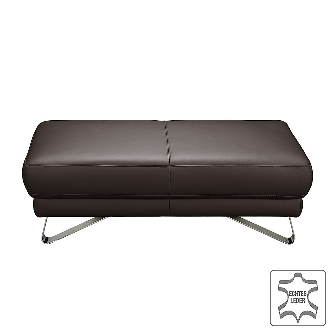 home24 Hocker Silvano | Wohnzimmer > Hocker & Poufs > Sitzhocker | Braun | Echtleder | loftscape