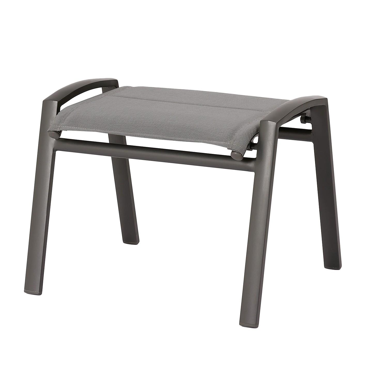Hocker Varese Relax - Kunststoff / Aluminium - Anthrazit, Best Freizeitmöbel