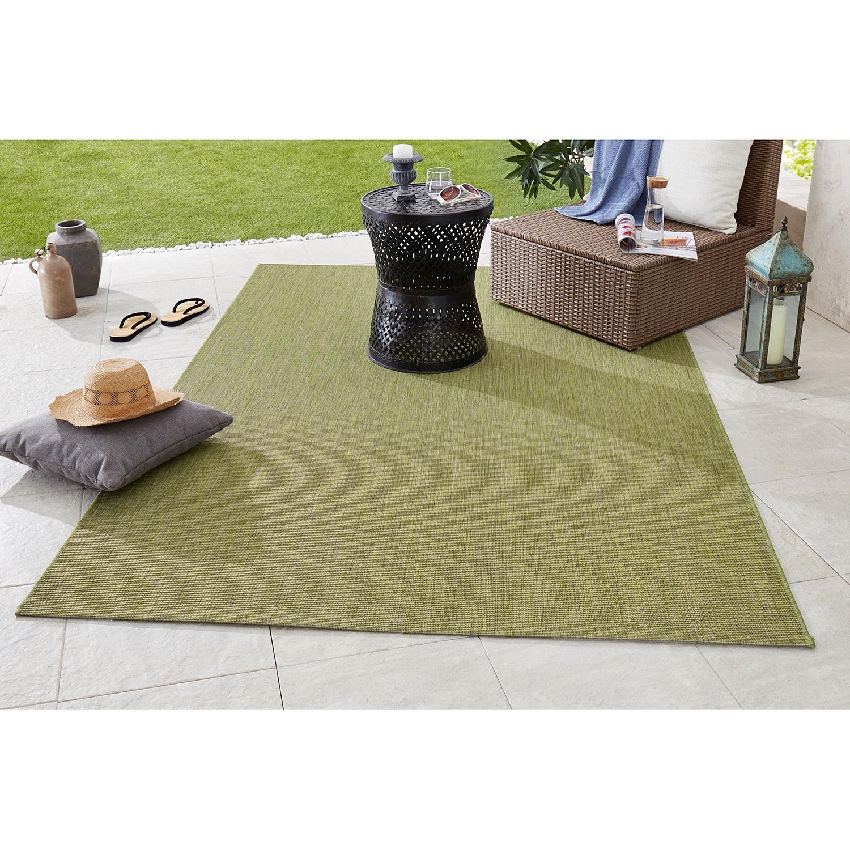 home24 Bougari In-/Outdoor-Teppich Match Pistaziengrün Rechteckig 200x290 cm (BxT) Modern Kunstfaser