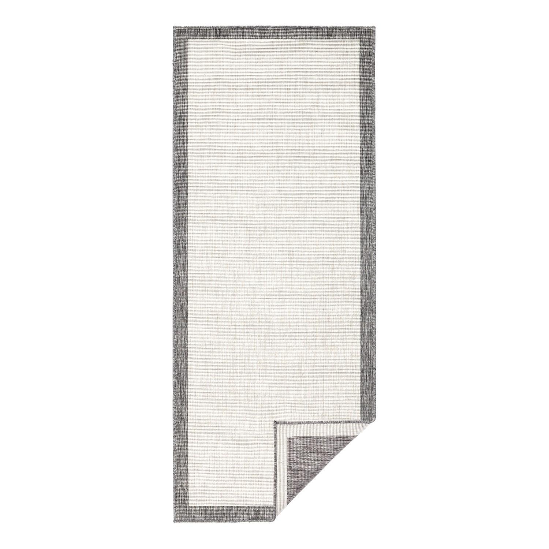 In-/Outdoorläufer Qala - Kunstfaser - Grau - 80 x 350 cm, Bougari