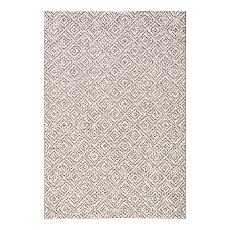 in-outdoorteppich-karo-kunstfaser-grau-80-x-150-cm-3760452 Inspiration Outdoor Teppich Kunststoff Schema