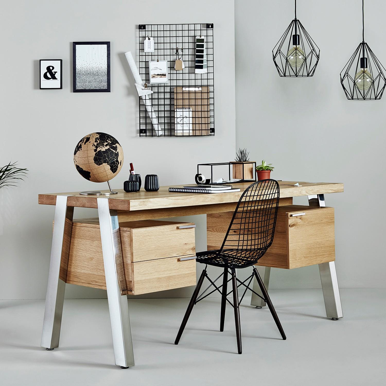 home24 Schreibtisch Solid Desk 160 | Büro > Bürotische | Braun | Holzwerkstoff | Jahnke