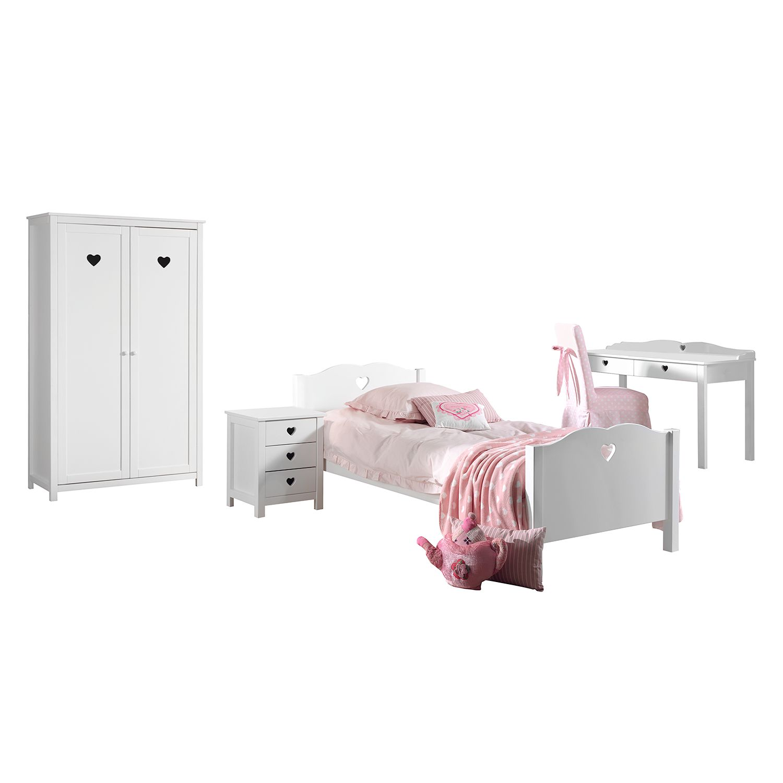 home24 Jugendzimmerkombi Amori I (4-teilig)   Kinderzimmer > Jugendzimmer > Komplett-Jugendzimmer   Weiss   Holzwerkstoff   Vipack