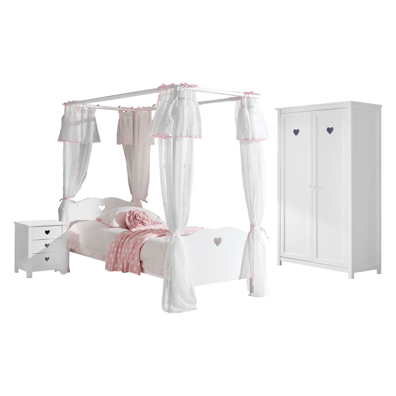 home24 Jugendzimmerkombi Amori III (3-teilig) | Kinderzimmer > Jugendzimmer | Weiss | Holzwerkstoff | Vipack