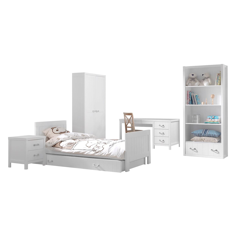 home24 Jugendzimmerkombi Lewis I (6-teilig) | Kinderzimmer > Jugendzimmer > Komplett-Jugendzimmer | Weiss | Holzwerkstoff | Vipack