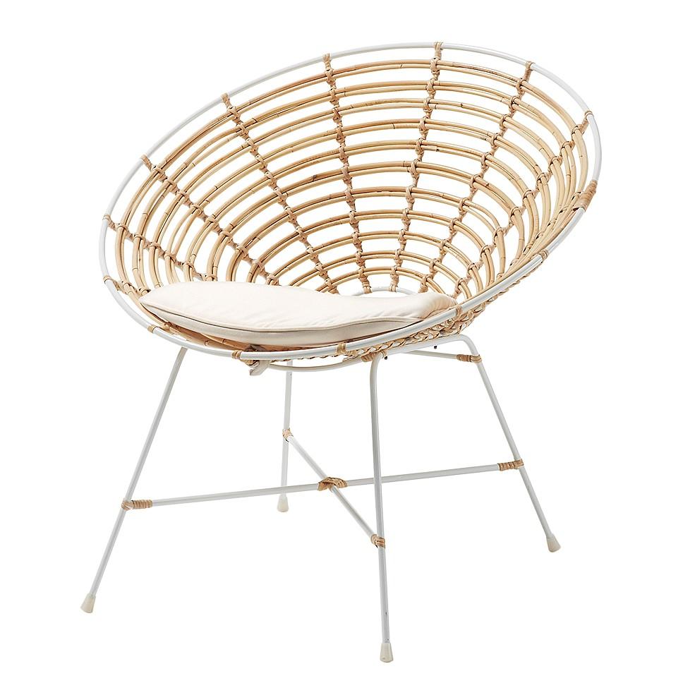 Poltrona Morlaix - Bambù/Tessuto Beige, ars manufacti