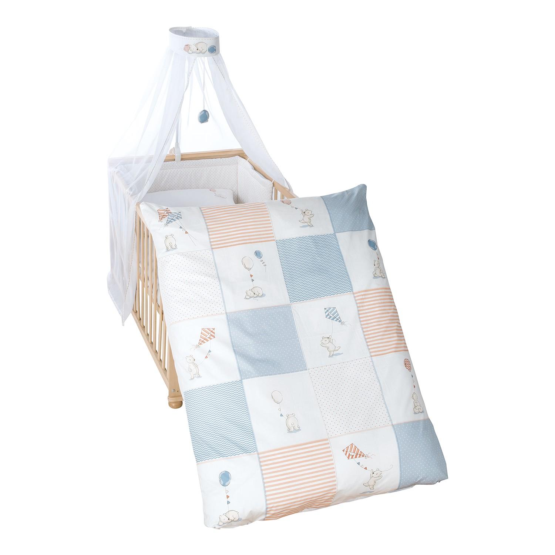 home24 Kinderbettset Vintage Bear (4-teilig)   Kinderzimmer > Textilien für Kinder > Kinderbettwäsche   Blau   Roba