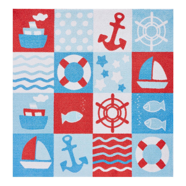 Kinderteppich Nautic - Kunstfaser - Blau, Zala Living