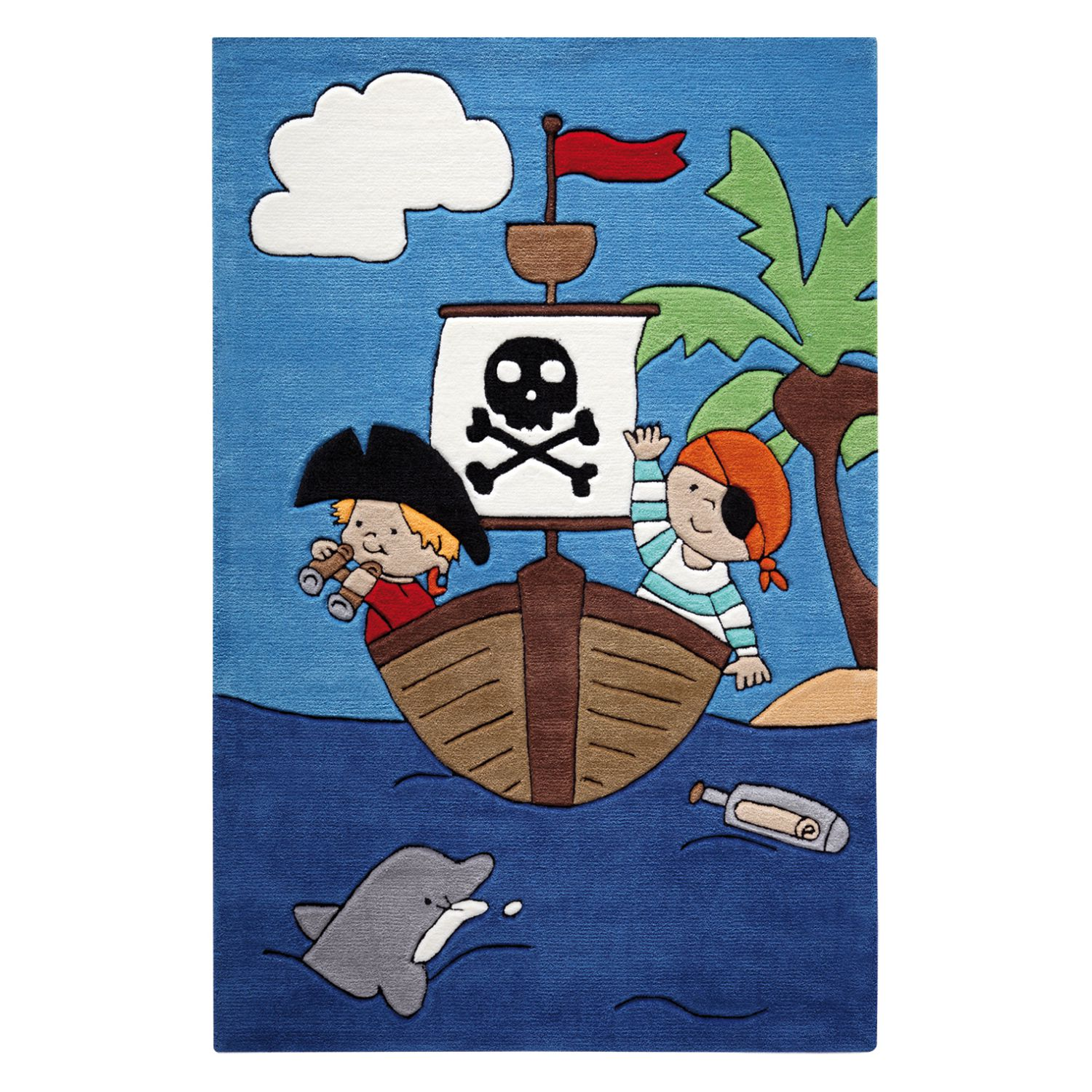 home24 Kinderteppich Pirate Kids | Kinderzimmer > Textilien für Kinder > Kinderteppiche | Blau | Textil | SMART KIDS