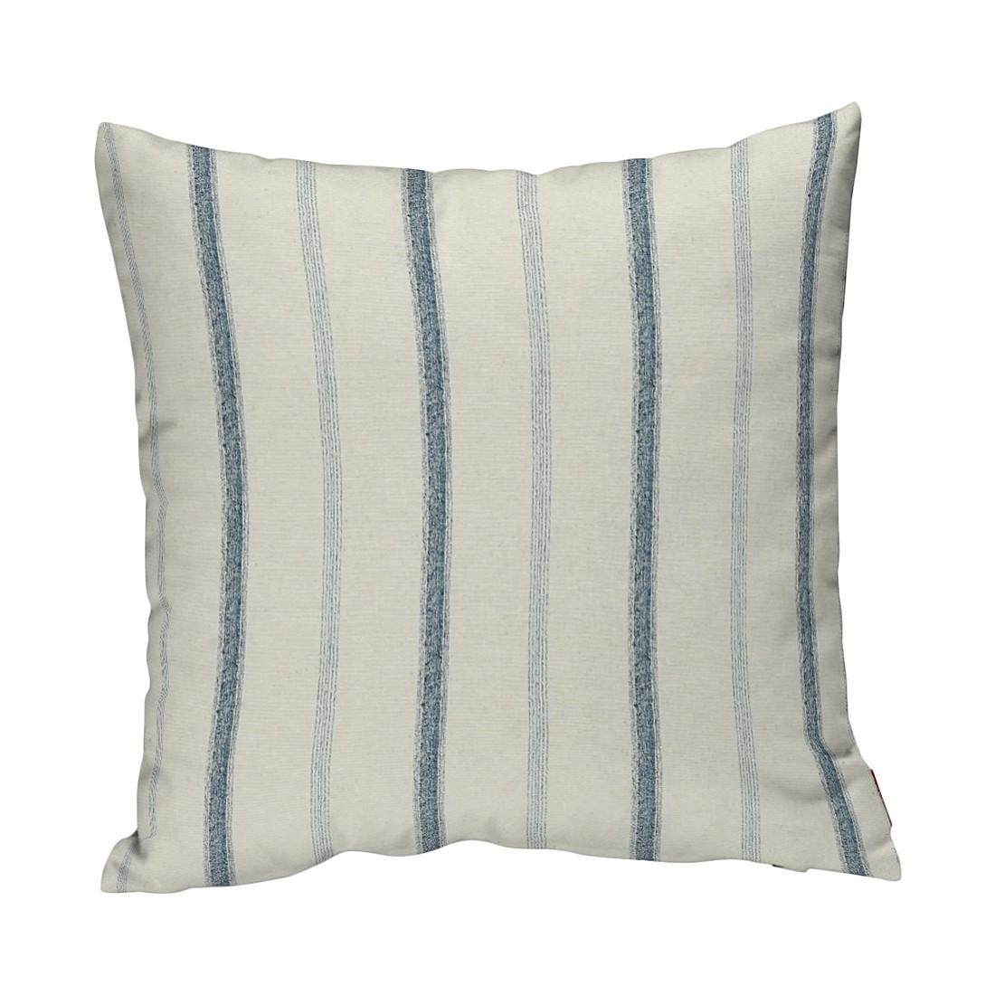Image of Federe per cuscini - Crema/Righe blu Crema/Strisce 60 x cm, Dekoria