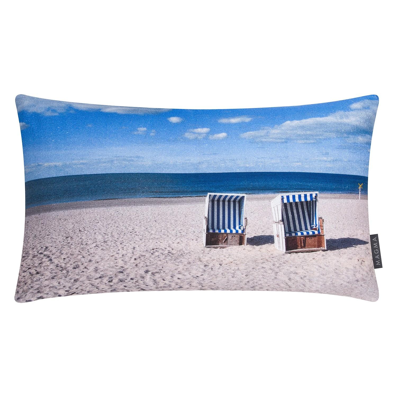 Kissenhülle Mehr Meer Strandkorb - Baumwollstoff - Beige / Himme bei Home24 - Möbel