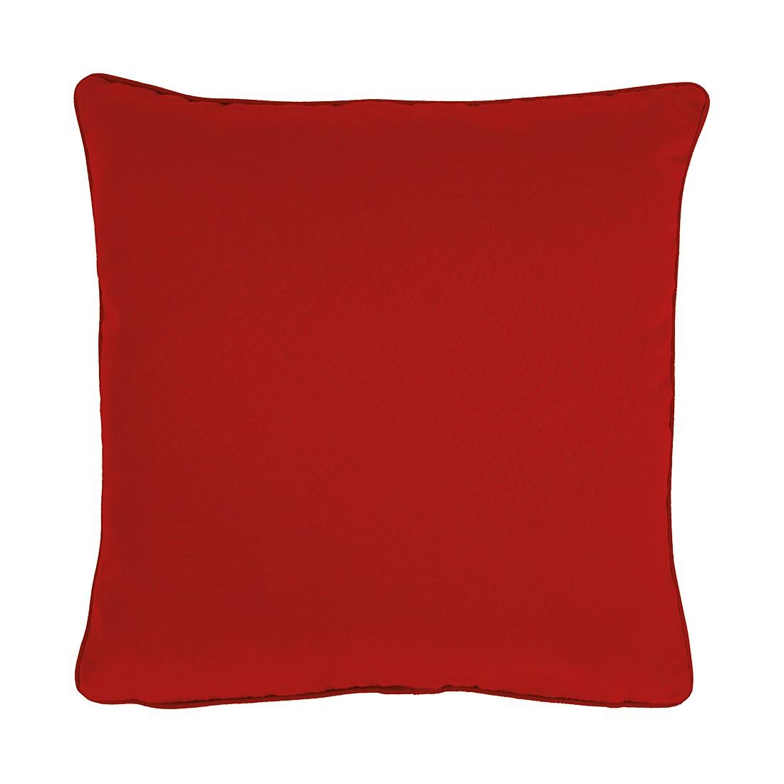 Apelt Kissenbezug Tizian Rubinrot 40x40 cm (BxH) Modern Baumwollmischgewebe