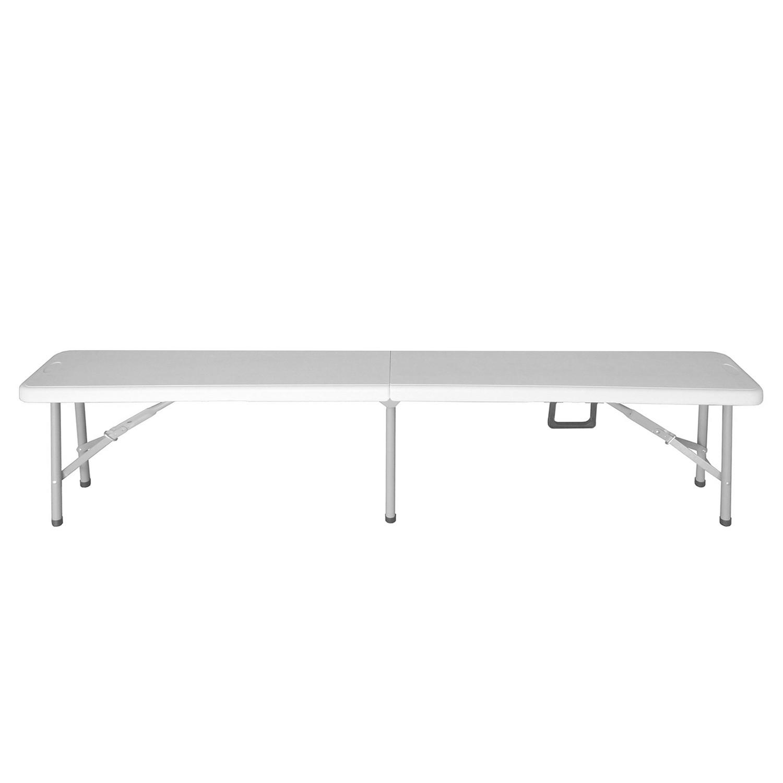 Gartenbank Mufaro - Kunststoff / Stahl - Weiß / Silbergrau, Garden Pleasure