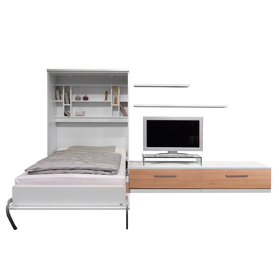 home24 Schrankbett-Kombination Majano | Schlafzimmer > Betten > Schrankbetten | Weiss | loftscape